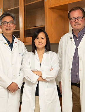 Dr. Zhou, Dr. French and Dr. Han